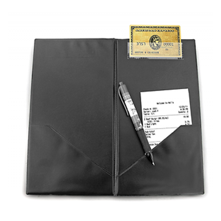 Wholesale Black Pu Credit Card Holder Restaurant Bill Receipt holder