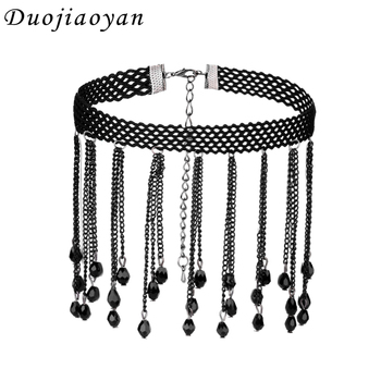 Wholesale Cheap Women Crystal Jewelry Fashion Lace Choker Necklace ...