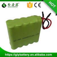 Ni-MH 12V AAA 800mAh Battery Pack 12V Rechargeable Battery Pack NIMH Customized NIMH Pack Factory Price
