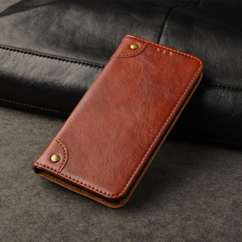 Cell Phone Custom Business Card Slot Holder Leather Flip Cover Wallet Case For Iphone X