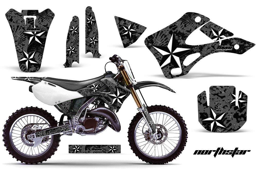 Kawasaki KX125 KX250 1999-2002 MX Dirt Bike Graphic Kit Sticker Decals KX 125 250 NORTHSTAR BLACK