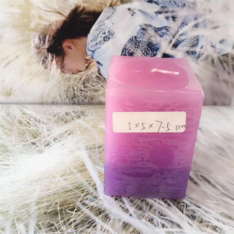 Gradient Colored Beautiful Home Fragrances Paraffin Wax Pillar Candles