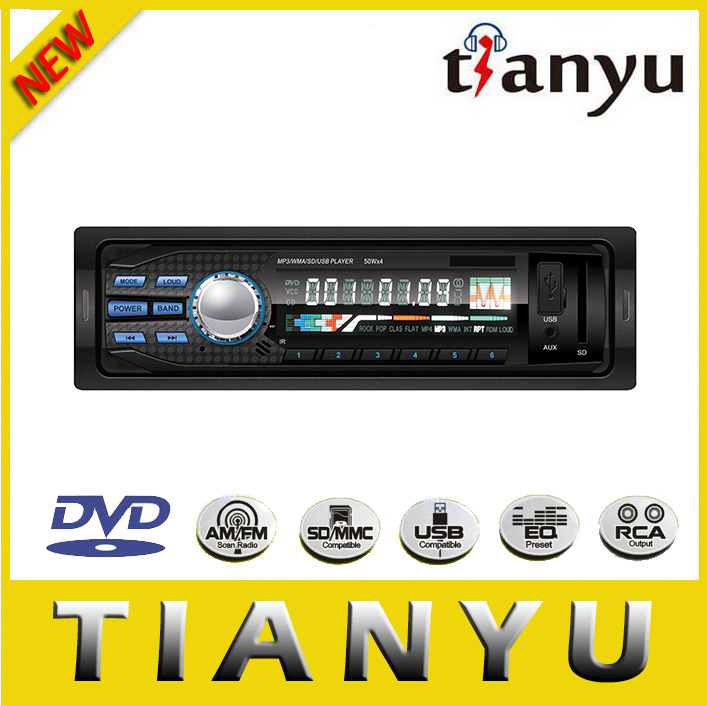 Universal 1 din car audio system with dvd player in dash