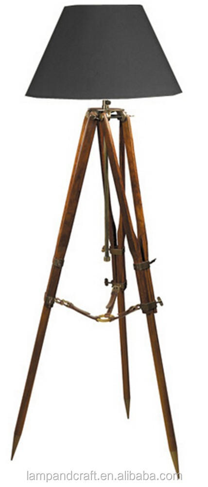2015 Top Selling Natural Wooden Tripod 3 Legs Floor Lamp With Black  Lampshade Saa Ul Cul Certificated Household Furniture - Buy 3 Legs Floor  Lamp,Natural ... - 2015 Top Selling Natural Wooden Tripod 3 Legs Floor Lamp With