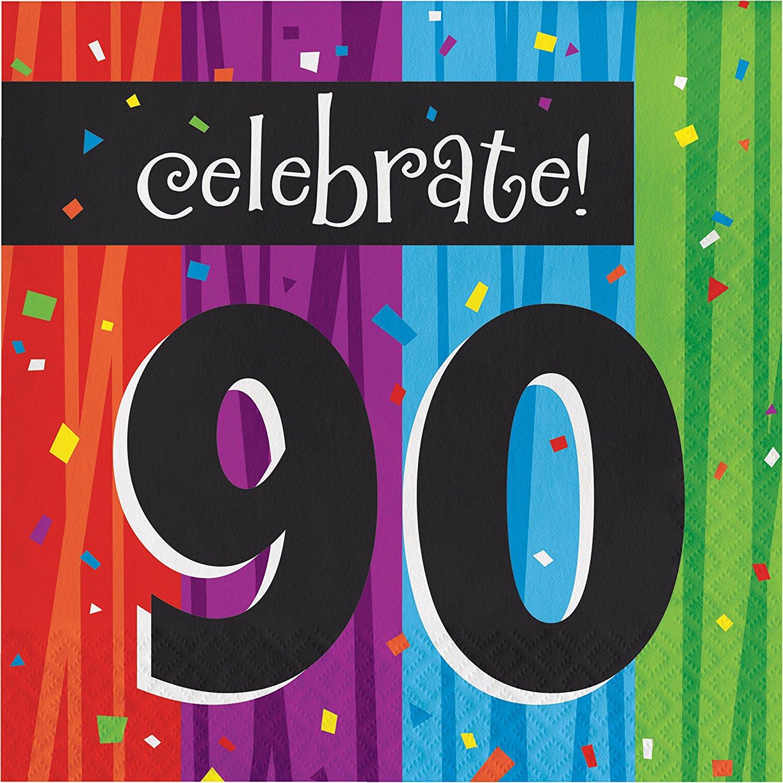 Milestone Celebrations 90th Birthday Napkins, 48 Count