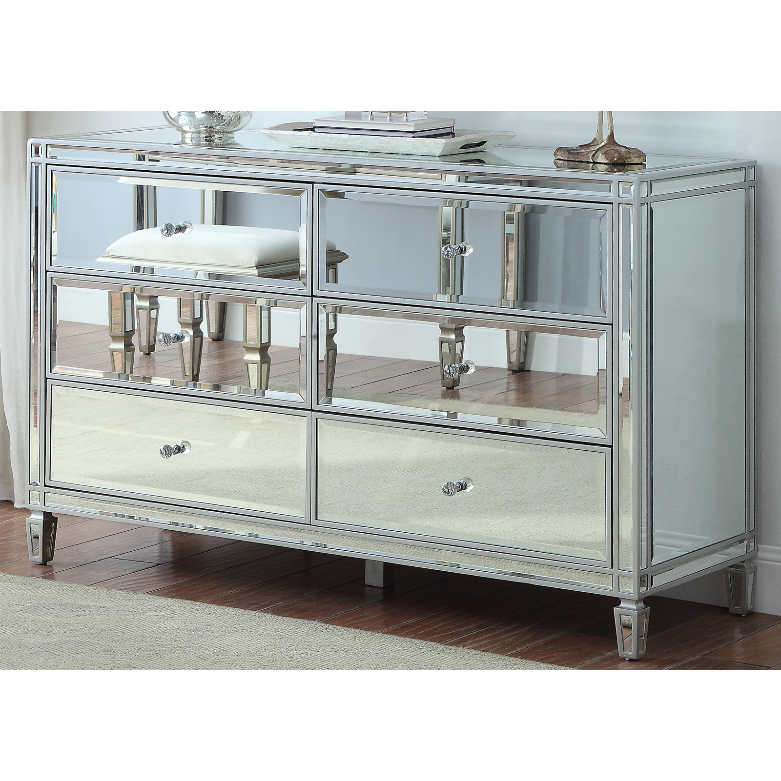 12 Drawer Living Room Mirrored Dresser Home Furniture Cabinet - Buy