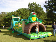 TOP RATED Extreme Tropical Obstacle inflatable beautiful and thrilling obstacle course challenge FOR SALE