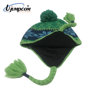 U Jump Keep Warm 100% Acrylic Polar Fleece Lining Winter Earflap Cap