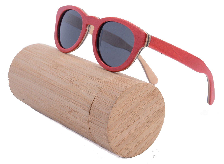 140e519387 Get Quotations · SHINU Wooden Glasses Bamboo Wood Polarized Sunglasses with Bamboo  Frame Eyewear-Z68022