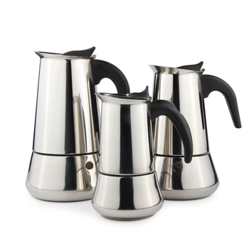 Matte Finished Moka Coffee Stainless Steel Italian Espresso Coffee Maker