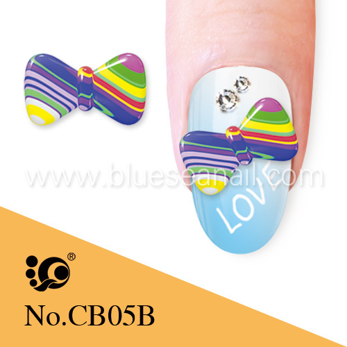 rainbow nail decoration 3D nail art bows nail beauty products