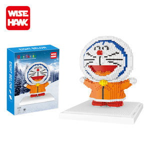 Wisehawk good birthday gifts plastic micro block toys doraemon figures for girls