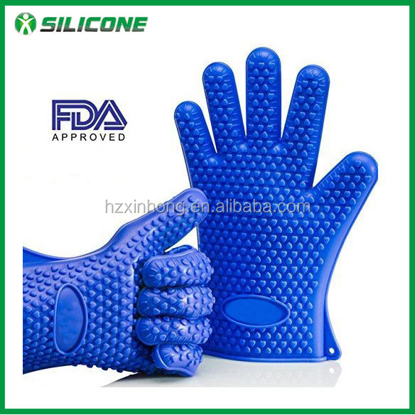 2016 Promotional Gift Easy to Clean BBQ Tools Silicone Grill Gloves