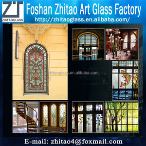 European Tiffany style stained glass for window