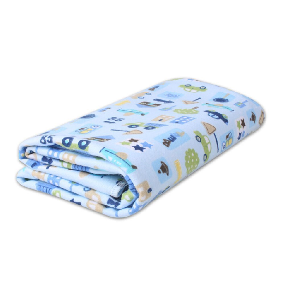 Blue//L Samber Baby Urine Pad Bamboo Fiber Mattress Incontinence Protection Pad Ultra Waterproof Bed Pad Three-Layer Menstrual Period Care Pad for Babies Children Women