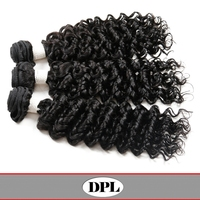 #1B color 100% Brazilian human curl hair weft
