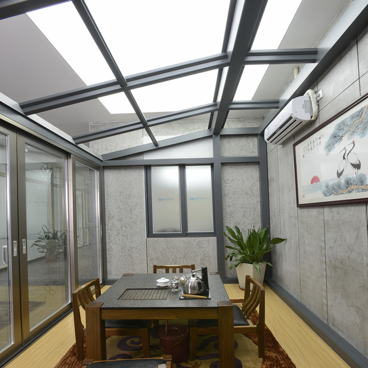 China Alibaba Villa Sunroom Glass Aluminum Frame Winter