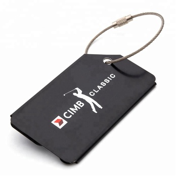 New product ideas 2018 factory custom blank airplane aluminum metal luggage tag