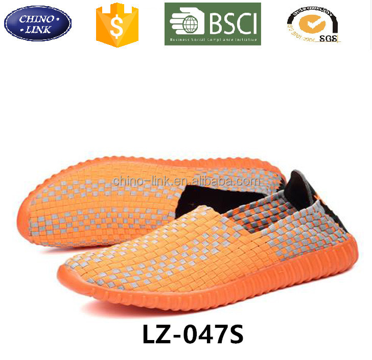 Autumn spring Breathable Men Casual Slip-on footwear women loafer elastic woven Zapatillas Deportivas shoes