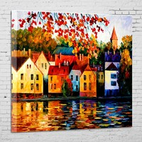 Easy for pictures oil painting home wall decoration