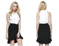 Fashion Women's Ruffles Design Summer Mini Skirt