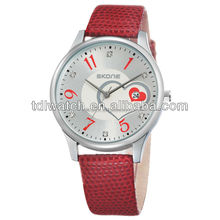 SKONE hot sale model 9160 leather strap watch band calendars