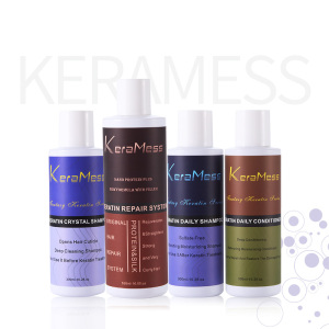 Organic brazilian keratin hair straightener treatment kit