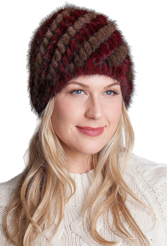 Overland Sheepskin Co. Knitted Danish Mink Fur Beanie Hat