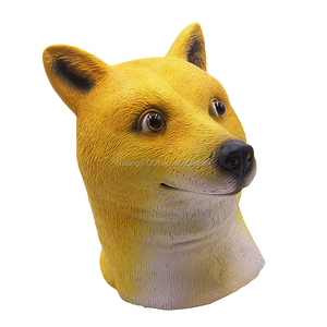 Funny Cute Costume Cosplay Dog Animal Heads Latex Mask For Halloween