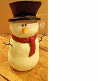 Simple Hat scarf and carrot 10.5CM Resin Snowman Figure Holidays Winter Christmas