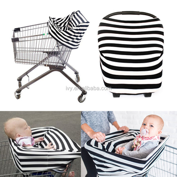 Universal Fit Multi Use Baby Infant Car Seat Covers Canopy Stretchy 360  Coverage Grocery Cart