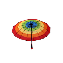 Promotional advertising cheap special 16k rainbow gift straight umbrella