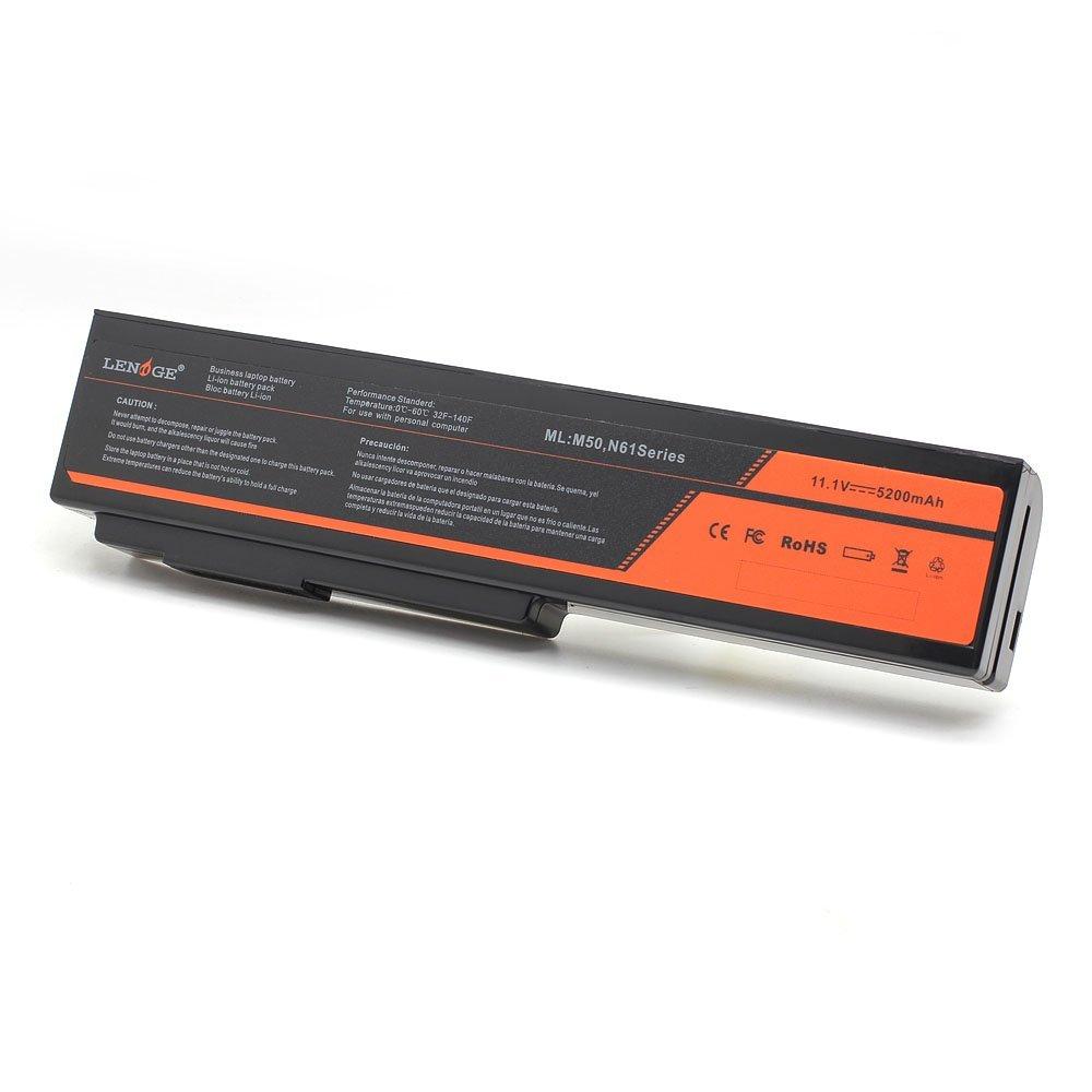 LENOGE(Li-ion Samsung 6 Cells)Laptop Battery Replacement for Asus A32-M50 G50 G51 G60 L50 VX5 A32-N61 A32-X64 G50VT G51 G51J G51J-A1 G51J-3D G51Jx-A1 G51Jx-X1 G51V G51Vx G51Vx-X3A L062066 L072051