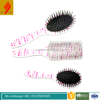 Factory Double Sided Heat Transfer Printing Straightening Hair Brush