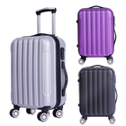 3 Piece Set Zipper Plastic Hard Abs Trolley Luggage