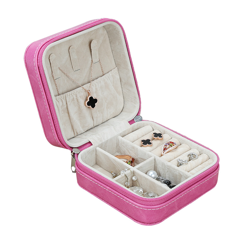 China Custom Pink Mini Jewelry Box For Necklace Ring Earring