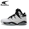 Fashion air lightweight custom sports mens basketball shoes with soft pu upper