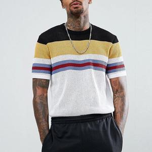 china top ten selling products men stripe custom mesh t shirt