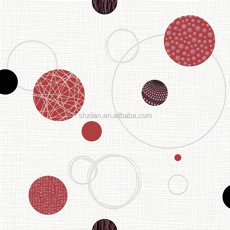 2016 high quality art style round circle wall paper