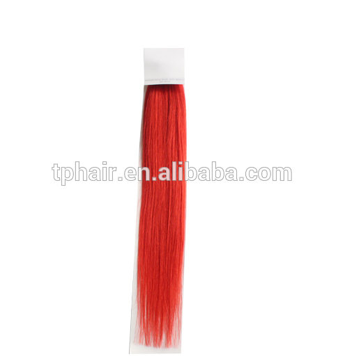 Brazilian Hair Red/Pink Color Tape Hair Extensions