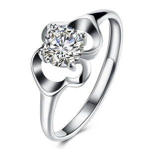 2018 Fashion 18K White Gold Plated Sterling Silver Ring,Cheap Wholesale 925 Silver Ring
