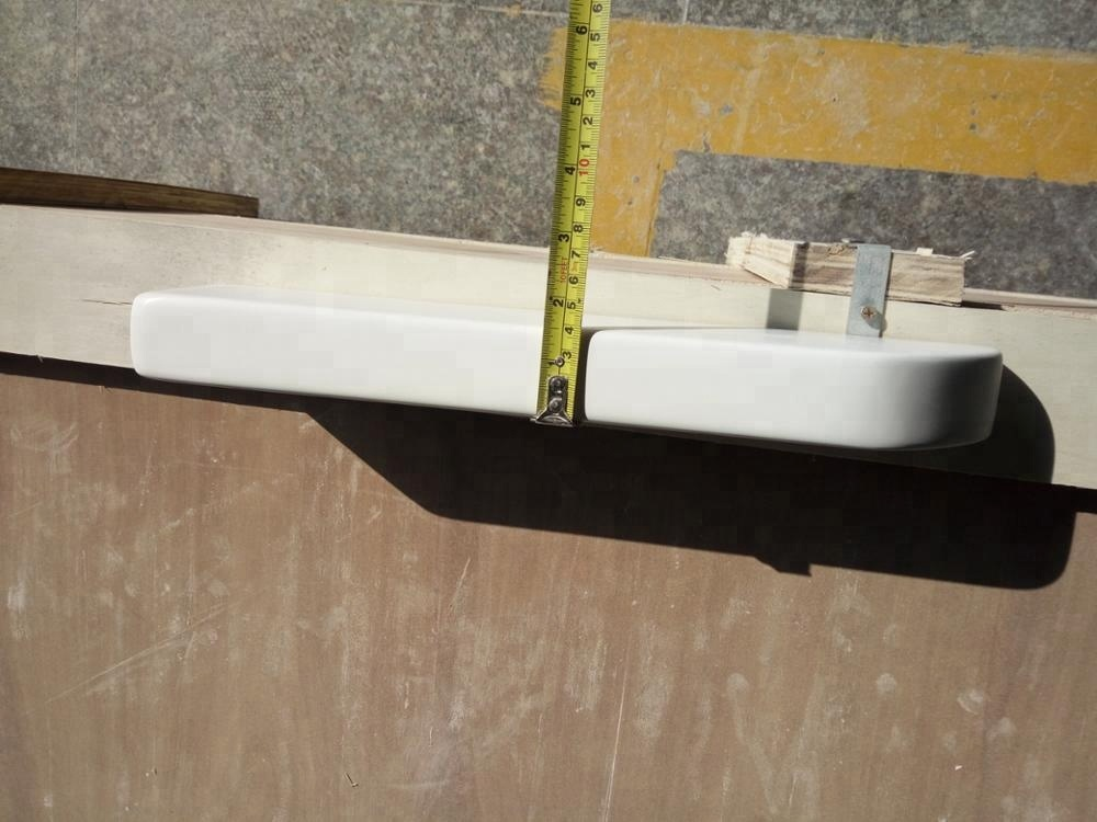 Cultured Marble Shampoo Shelf 15''x3''x1.5'' Curved Wall Mount Accessory Ledge Soap Dish Foot Rest Trims