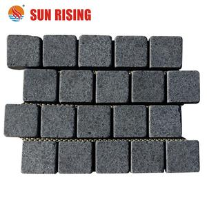 Wholesale Dark Grey Granite Paving Stone for outdoor driveway
