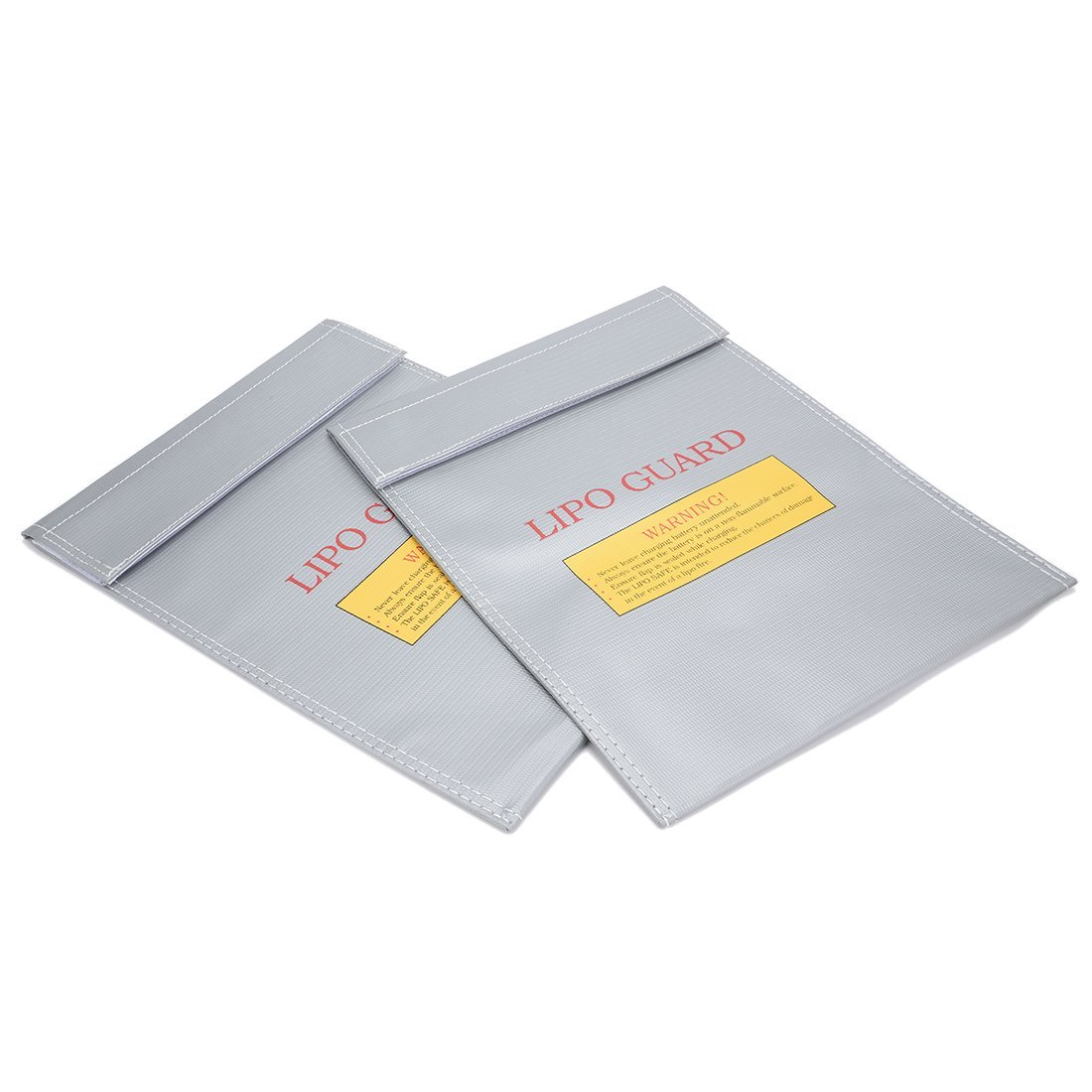 uxcell 2pcs Fireproof RC Lipo Battery Storage Charging Safe Bag Pouch Sack Lipo Battery Guard Silver 230mmx300mm Large
