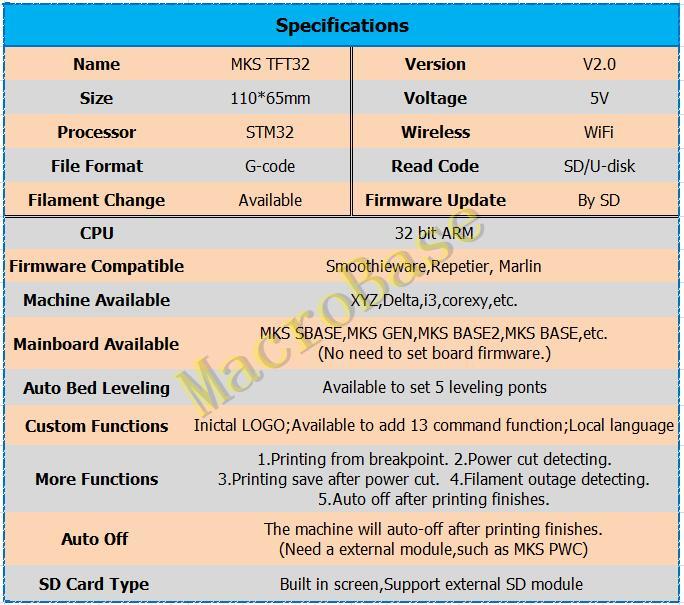 MKS SBASE + MKS TFT32 V3 0 display 3D printer controller kit integrated  Microcontroller ARM Cortex smoothieboard Smoothieware