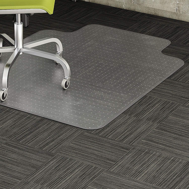 "Lorell 69157 Low Pile Chairmat, 36""x48"", Standard Lip 19""x10"", Clear"