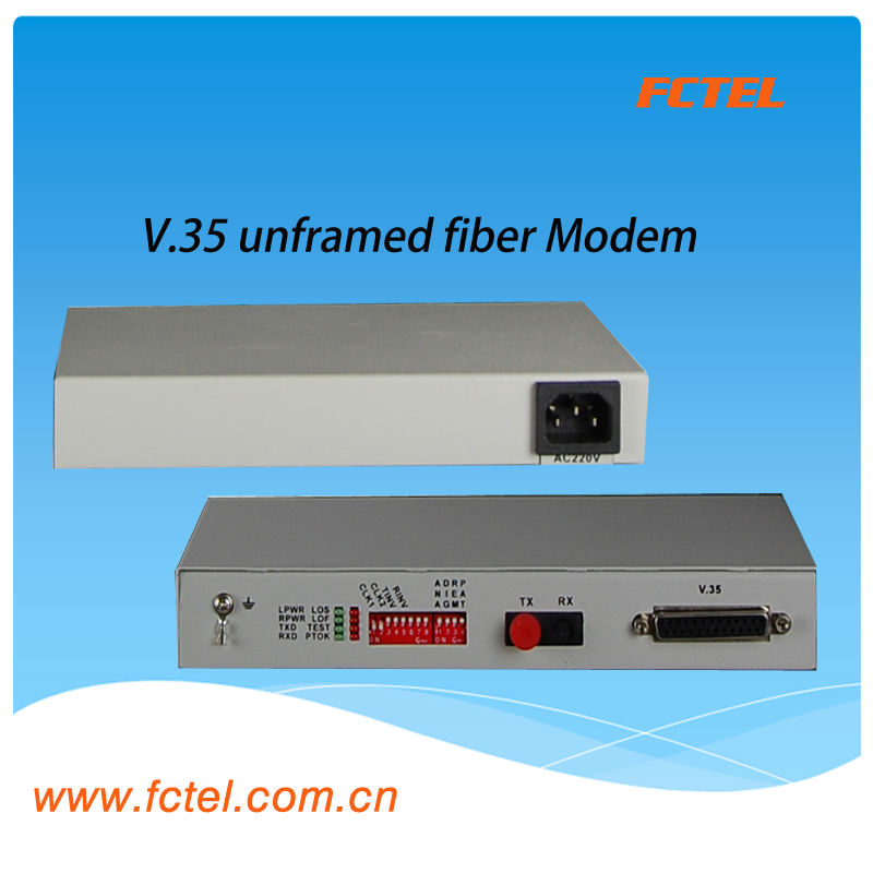 pure 2048Kibt/s N*64Kbit/s 2 v 35 interface fiber modem