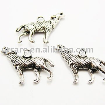 Wolf Shape Alloy Charm for Fashion Jewelry Making