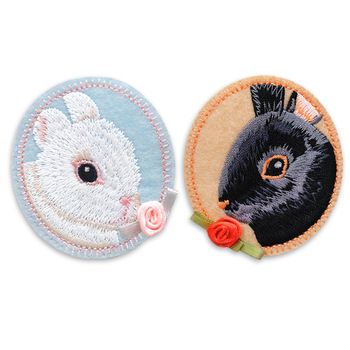 Lovely Rabbit Custom Iron on Embroidered Patch