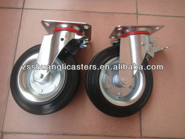 EN840 metal rim waste bin container wheels